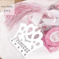 50 шт. изысканный Princess Crown закладки Regalos de BODA Para Лос invitados Baby Shower сувениры для девочек Подарки свадебной