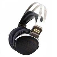 Headphones MSUR N650 Headset Subwoofer HiFi Wooden Metal Music DJ Headphone Earphone With Beryllium Alloy Driver