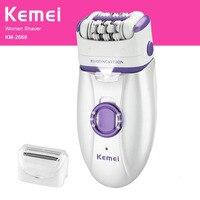 Kemei Electric Epilator For Women Body Depilatory Female Rechargeable Shaver Depilation Machine Hair Removal AC 100