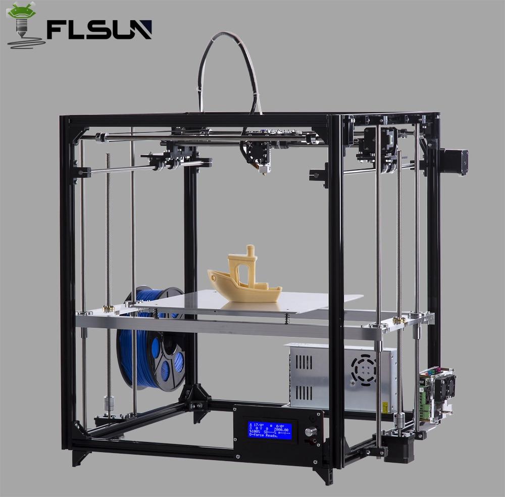Flsun Cube DIY 3D Printer kit Large Printing Area 260 260 350mm Open Build Aluminium Frame