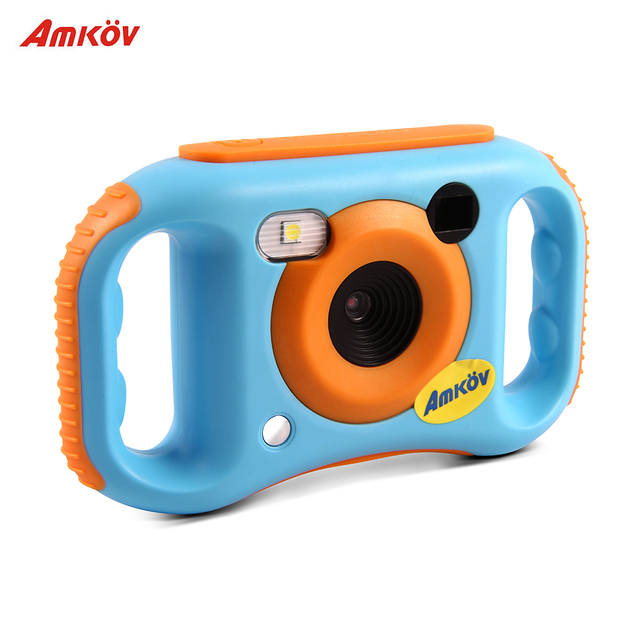 Amkov Kids Digital Video Camera WiFi Connection 5 Mega Pixels Built-in Lithium BatteryBirthday Gift for Children Boys Girls