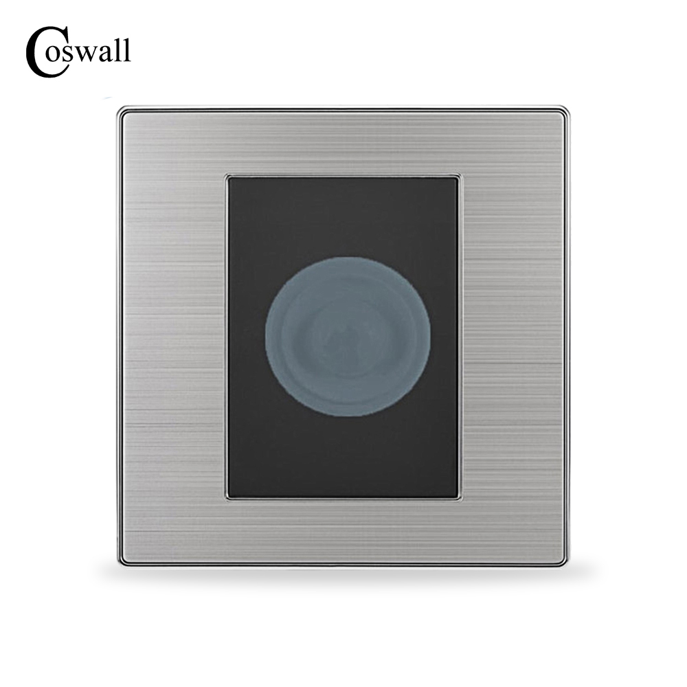 insert card for power hotel switch wall interruptor brushed silver stainless steel panel power light conmutador Human Body Motion Sensor Switch Wall Interruptor Brushed Silver Stainless Steel Panel Power Light Conmutador Delay Time 45 S