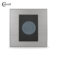 Human Body Motion Sensor Switch Wall Interruptor Brushed Silver Stainless Steel Panel Power Light Conmutador Delay