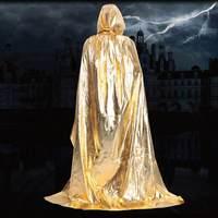 2016 Hot Sale Halloween Cosplay Costumes Cloak Wizard Death Hooded Velvet Cloak Cape Free Shipping Hzsm