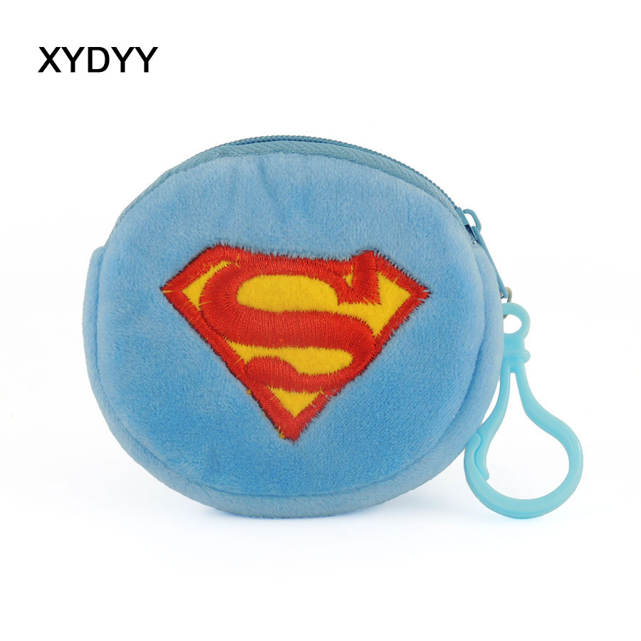 XYDYY Kawaii Cartoon Prints Women Children Plush Coin Purse Portable Zipper Pouch Coin Purse Mini Wallet Handbag for Gift