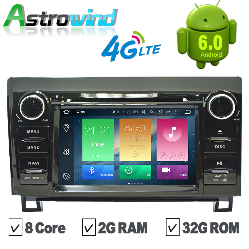 8 Core, 2G RAM,32G ROM, Android 6.0 GPS Navigation System DVD Stereo Media Auto Radio For Toyota Crown Previa Tundra Sequoia