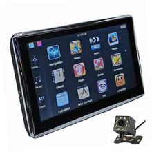 7 cal nawigacji samochodowej GPS 128 M 8G nawigacji satelitarnej nadajnik FM darmowe mapy opcjonalnie Bluetooth AV-IN i kamery cofania tanie tanio Pojazdów gps jednostki i sprzęt 800x480 Mp3 mp4 Ekran dotykowy Ładowarka Hadasiton