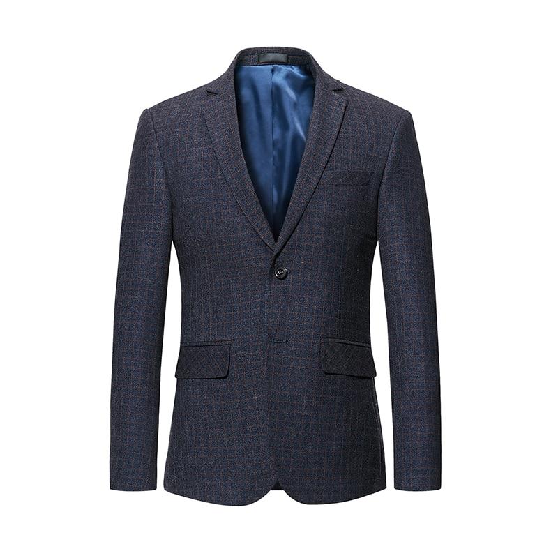 Bonne qualité hommes Blazer 2019 nouvelle offre spéciale Plaid Style unique boutonnage mode homme porter deux Butotons costume décontracté veste #997