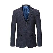 Bonne Qualité Hommes Blazer 2018 New Hot Vente Plaid Style unique Poitrine  Mode Masculine Deux Butotons Costume Décontracté Vest. abd6cb7edeb