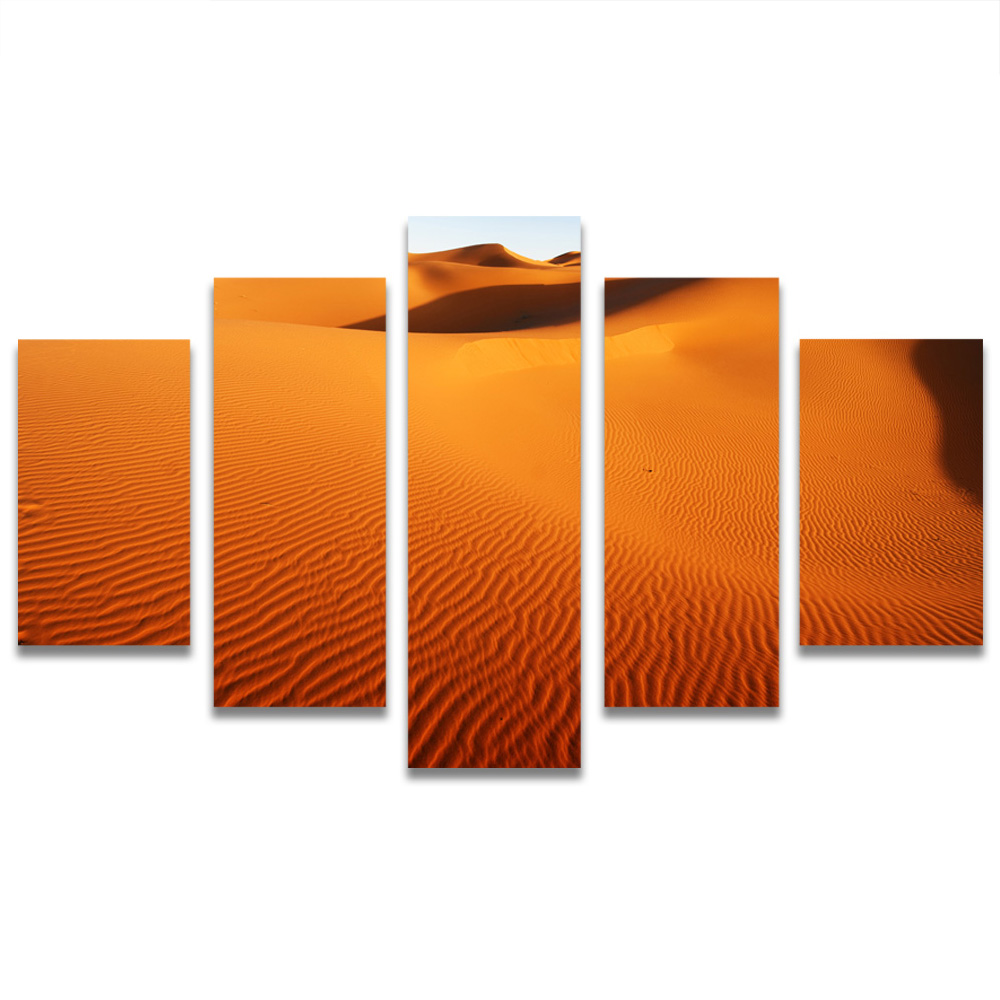 Unframed HD Canvas Painting Hot Desert Wind Pattern Dune Picture Prints Wall Picture For Living Room Wall Art Decoration