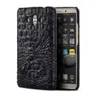 Piel de cocodrilo genuino funda del teléfono para Huawei Mate 10 teléfono cubierta protectora de la caja del teléfono de cuero para Huawei p9 lite caso - 1