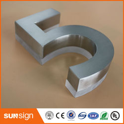 H 20cm Wholesale stainless steel illuminated led house number custom 3d signs