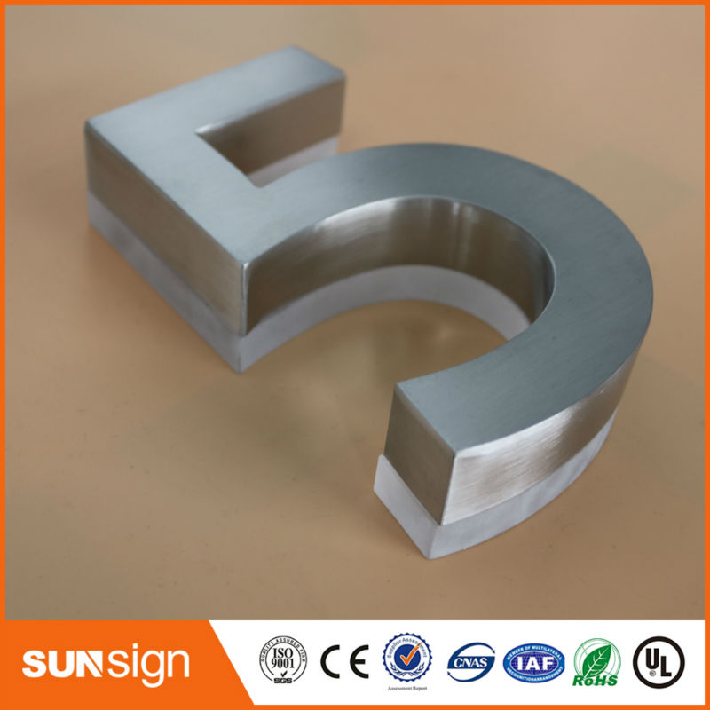 wholesale stainless steel illuminated led house number custom 3d signschina mainland