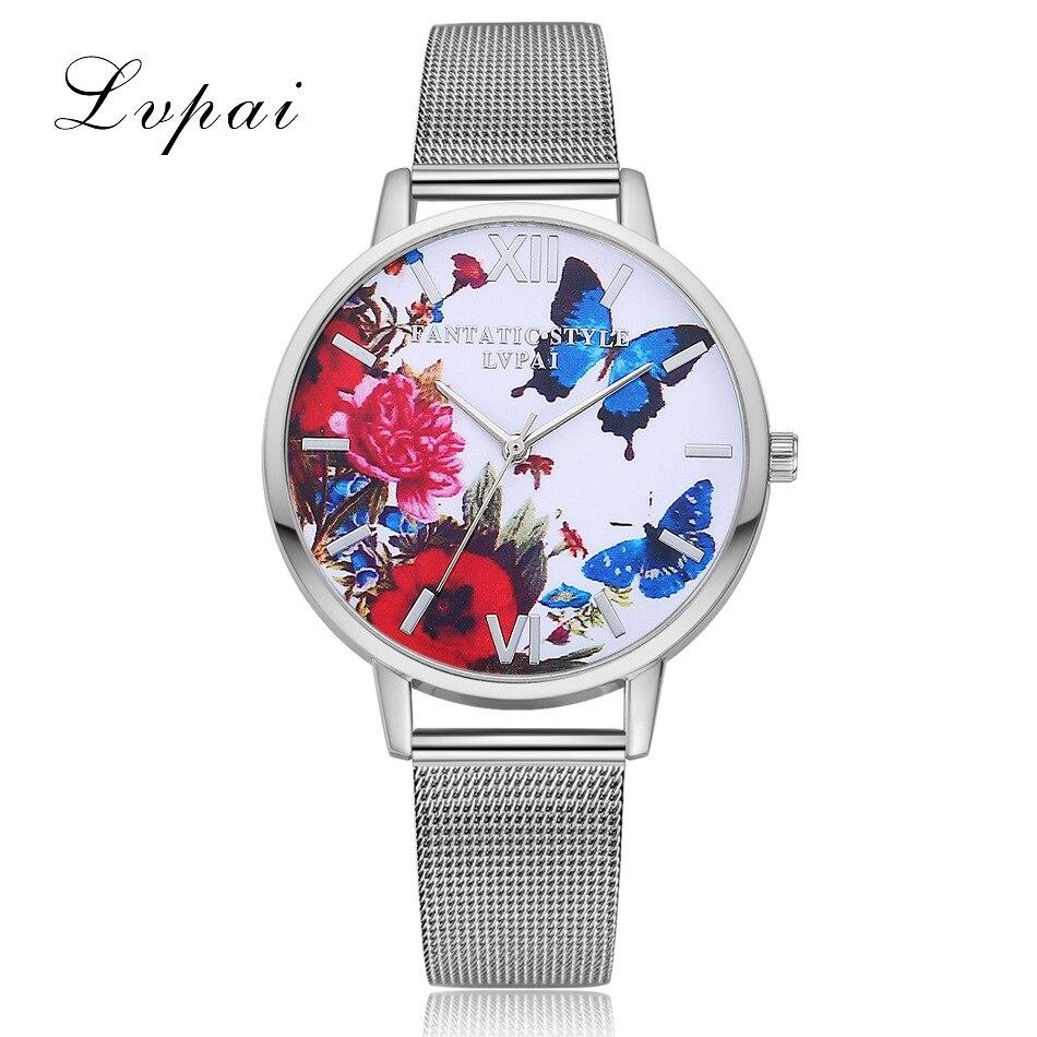 Luxury Women Bracelet Watch Fashion Ladies Flower Dial Wrist Watches Metal Silver Mesh Quartz Clock Female Relogio Feminino 2019(China)