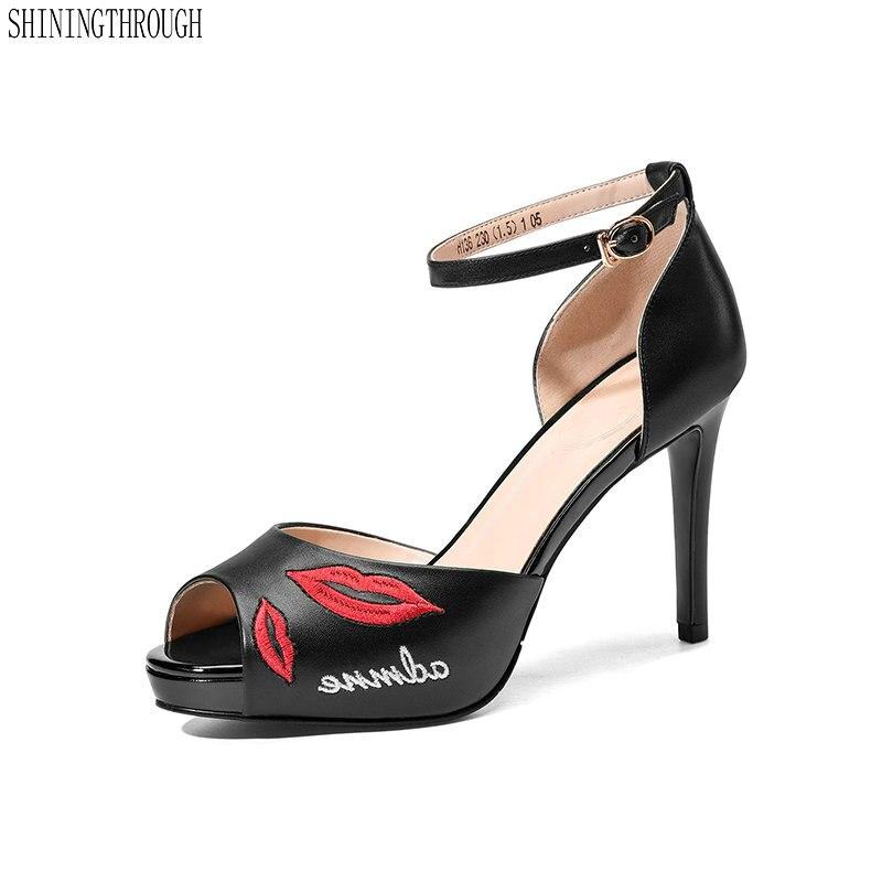 6e189a3b766f Bureau Bride Femmes Chaussures Soirée De Pour Cuir La Hauts Cheville  Souliers En À Talons Sexy Noir blanc ...