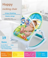 цены на Baby Rocking Chair Baby Multi-functional Music Shaking Bed Children's Leisure Rocking Chair Lifting Chair  в интернет-магазинах