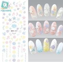 Rocooart DS327 Water Transfer Nails Art Sticker Harajuku Elements Dim Flurry Ocean Shell Nail Wraps Sticker Manicura Decal