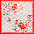 90cm * 90cm new scarf G letter flowers lady silk scarf square towel