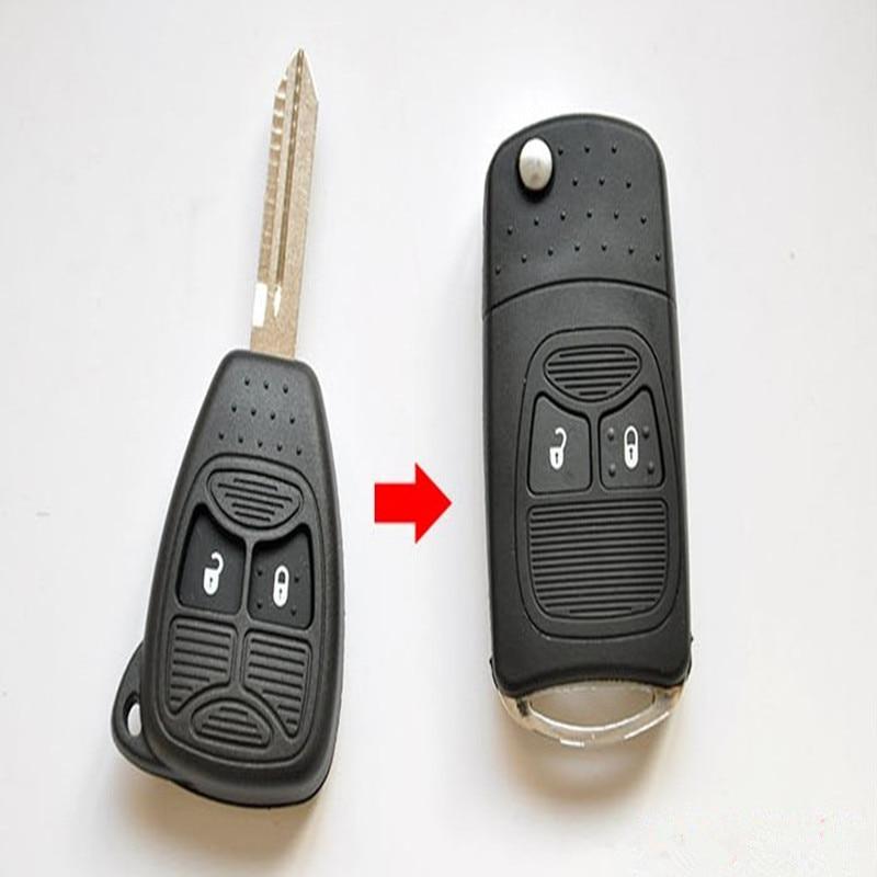 Car Remote Key >> NEW Modified Flip Folding car Key Shell for CHRYSLER Jeep Compass Wrangler Patriot Remote Key ...