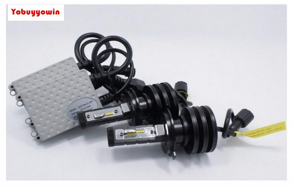 Pair New Gen 6th High/Low 55W/80W 8000LMS H4 9003 HB2 LED HEADLIGHT CONVERSION KIT(WITH DRIVERS)PHILIPSLUXEON ZES 16PCS Chips