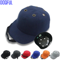 1579512f38f Adjustable Work Safety Bump Cap Helmet Baseball Hat Head Protection Caps  Workplace Anti Smashing Riding Safety