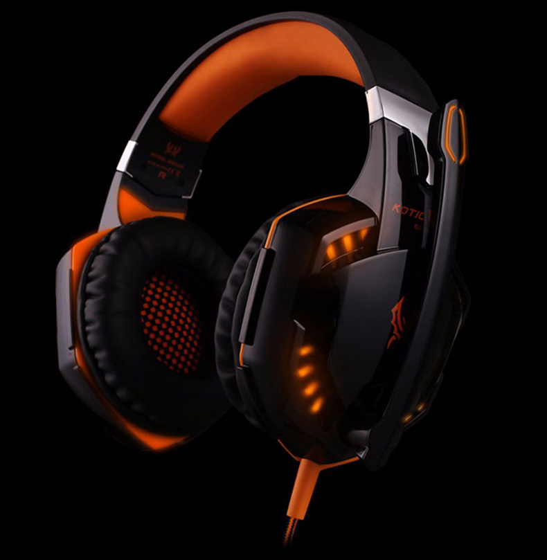 Best casque Computer Stereo Gaming Headphones Deep Bass Game Earphone Headset Gamer with Microphone Mic LED Light for PC Game  (8)