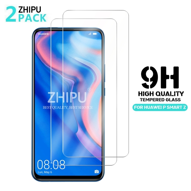 """2 Pcs Tempered Glass For Huawei P Smart Z Screen Protector 2.5D 9H Tempered Glass For Huawei P Smart Z Protective Film 6.59"""" *"""