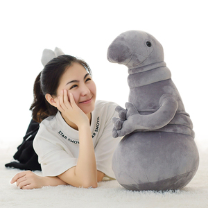 Image 5 - 1pc 20cm Waiting statue Meme Tubby Gray Blob Plush Toy Soft Stuffed monster Doll Homunculus Loxodontus Creative Nice Cute Gift