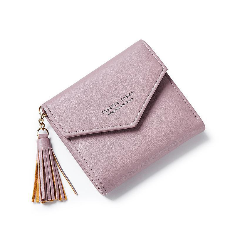 Weichen Small Wallet Forever Young Purse Card-Holders Girl Women Tassel Envelope Carteras-Mujer
