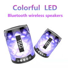 TG Colorful Led Bluetooth Speaker Portable Outdoor Bass Loudspeaker Wireless Mini Column Support TF card FM Stereo HiFi Boxes wireless bluetooth speaker portable outdoor loudspeaker led colorful mini column 3d stereo music bass box support fm tf aux usb