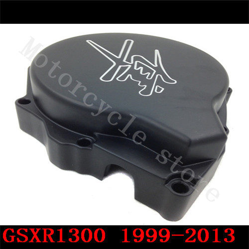 For Suzuli GSXR1300 GSX-R 1300 Hayabusa GSX1300R 1999-2011 2012 2013 2014 2015 Motorcycle Stator Engine Covers Black left side aftermarket free shipping motorcycle parts for motorcycle 1999 2011 suzuki gsx r 1300 r hayabusa gsxr1300 axle caps covers black