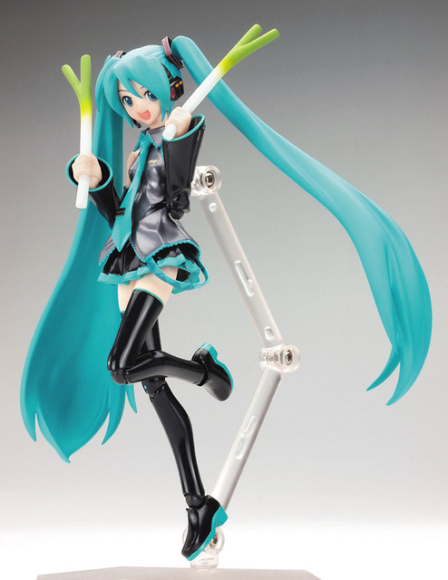 15CM PVC  Hatsune Miku Action Figure Hands and Feet Moving Can Change The Face Car Furnishing Articles Ornament Holiday Gifts