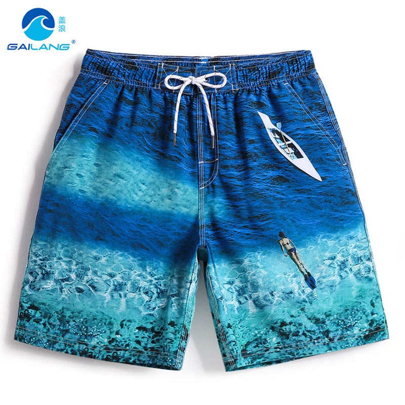 Beach   shorts   Men's summer swimwear navy   board     shorts   plavky bathing suit sexy loose swimsuit elastic liner surf