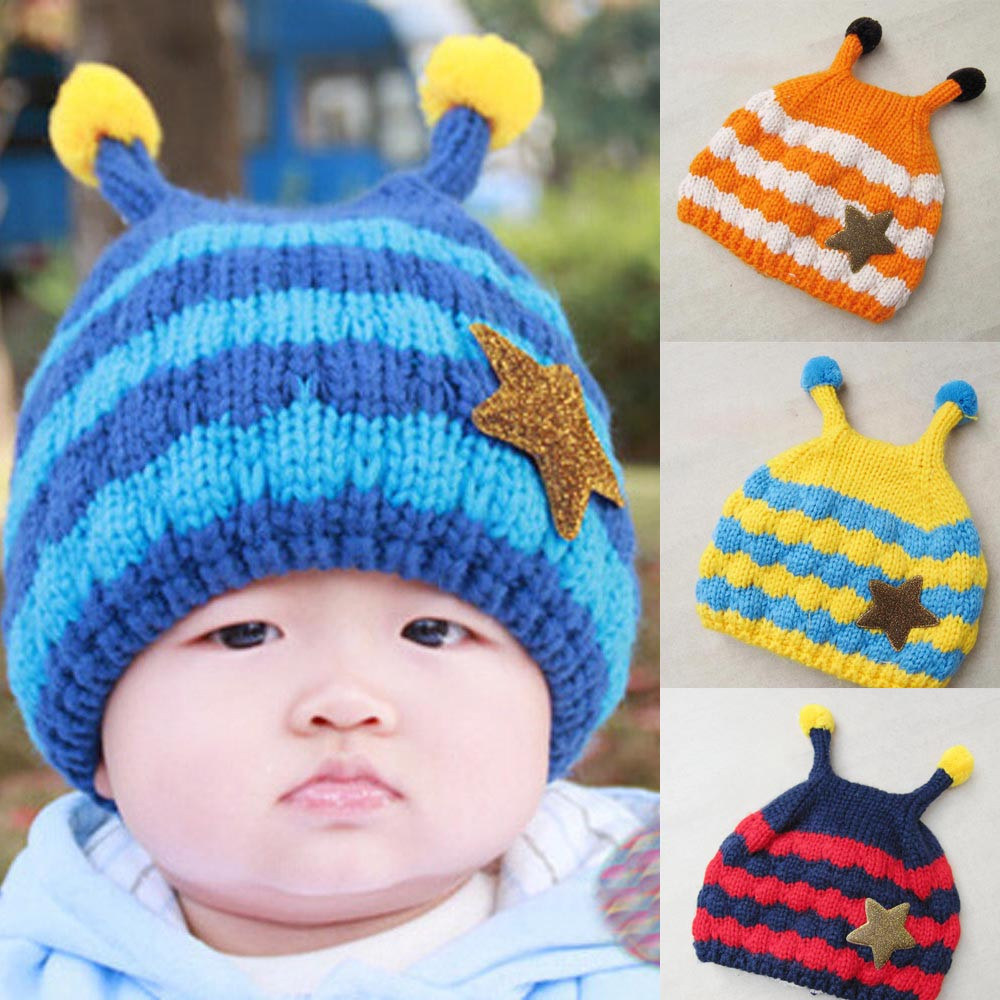 125463ad1 Niños invierno sombreros bebé recién nacido fotografía atrezzo niño Niñas  Niños abejas Patten Pieles de animales Bola de punto sombrero de invierno  cálido ...
