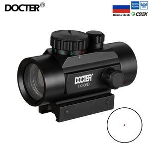 1x40 Riflescope Tactical Red Dot Scope Sight Hunting Holographic Green Dot Sight With 11mm 20mm Rail Mount Collimator Sight