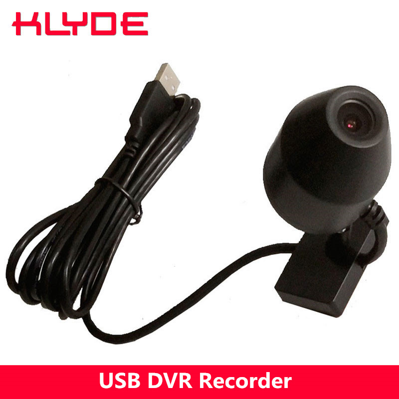 KLYDE USB DVR Recorder Front Camera for Android 4.4 5.1 6.0 7.1 8.0 Car DVD Radio with CPU RK3066 or RK3188