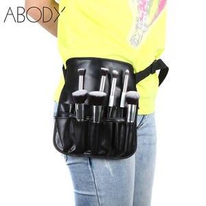 Two Arrays Makeup Brush Apron Black Holder Strap PVC Make Up Brush Bag 0647726ee867f