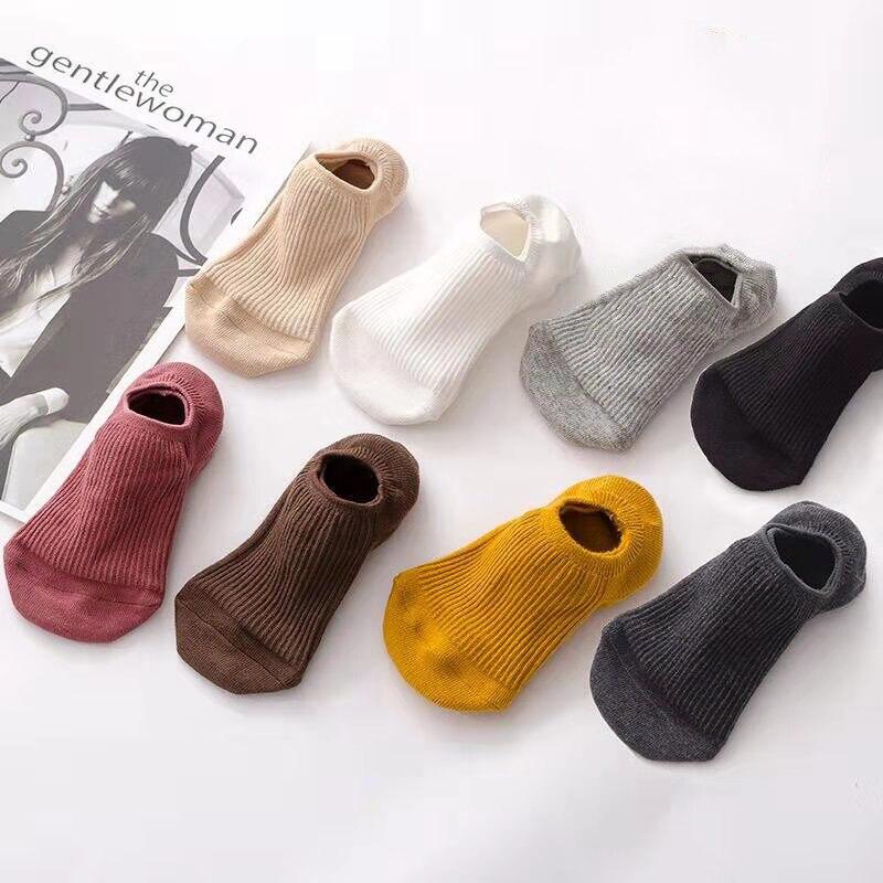 Anti-Slip Unisex Silicone No Show Socks Men Casual Low Sports Boat Socks Short