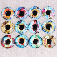 reidgaller Mix eyes photo round glass cabochon 8mm 10mm 12mm 14mm 16mm 18mm 20mm 25mm 30mm diy flat back jewelry findings