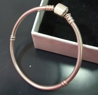 Authentic 100 925 Sterling Silver Snake Chain Bangle Bracelet Luxury Jewelry For Girlfriend Gift