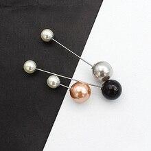 Распродажа 3-5 шт простая брошь с искусственным жемчугом для женщин новые несколько стилей жемчужные булавки для костюма аксессуары для свитера ювелирные изделия
