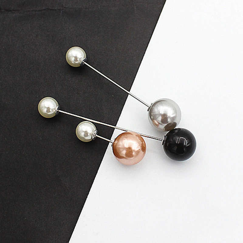 Sale 3-5Pcs Simple Imitation Pearl Brooch For Women New multiple styles Pearl Suit Pins Sweater Accessories Jewelry