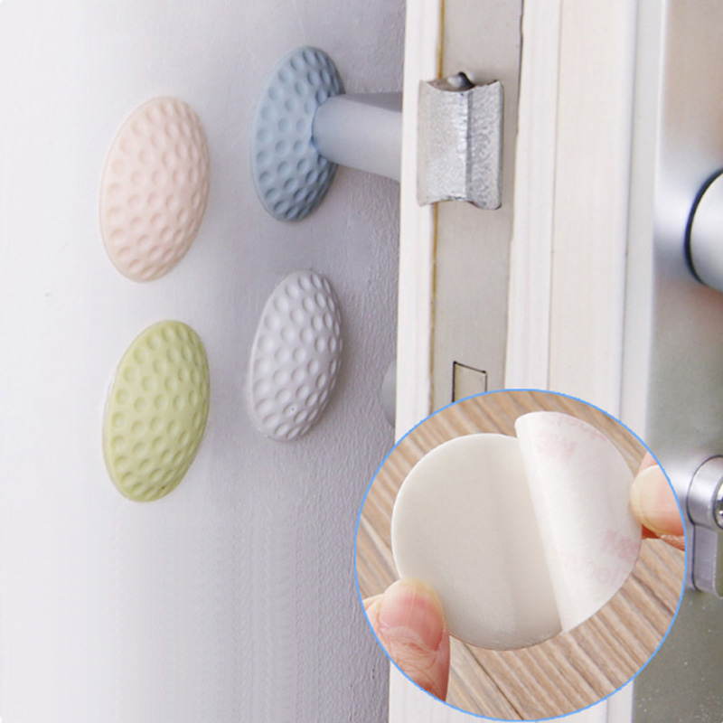 4Pcs/Lot Silicone Baby Anti-collision Pad Newborn Safety Shock Absorbers Security Card Door Stopper Children Kid Protection Lock