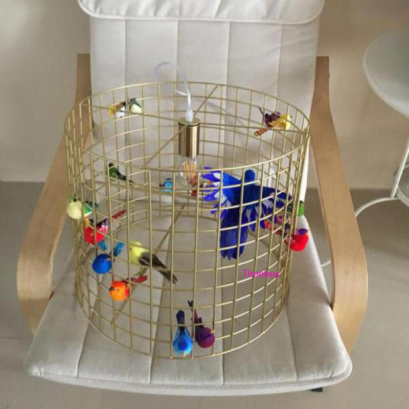 Retro-copper-gold-creative-wrought-iron-Light-bird-cage-Pendant-Light-personality-American-dining-hanging-bedroom