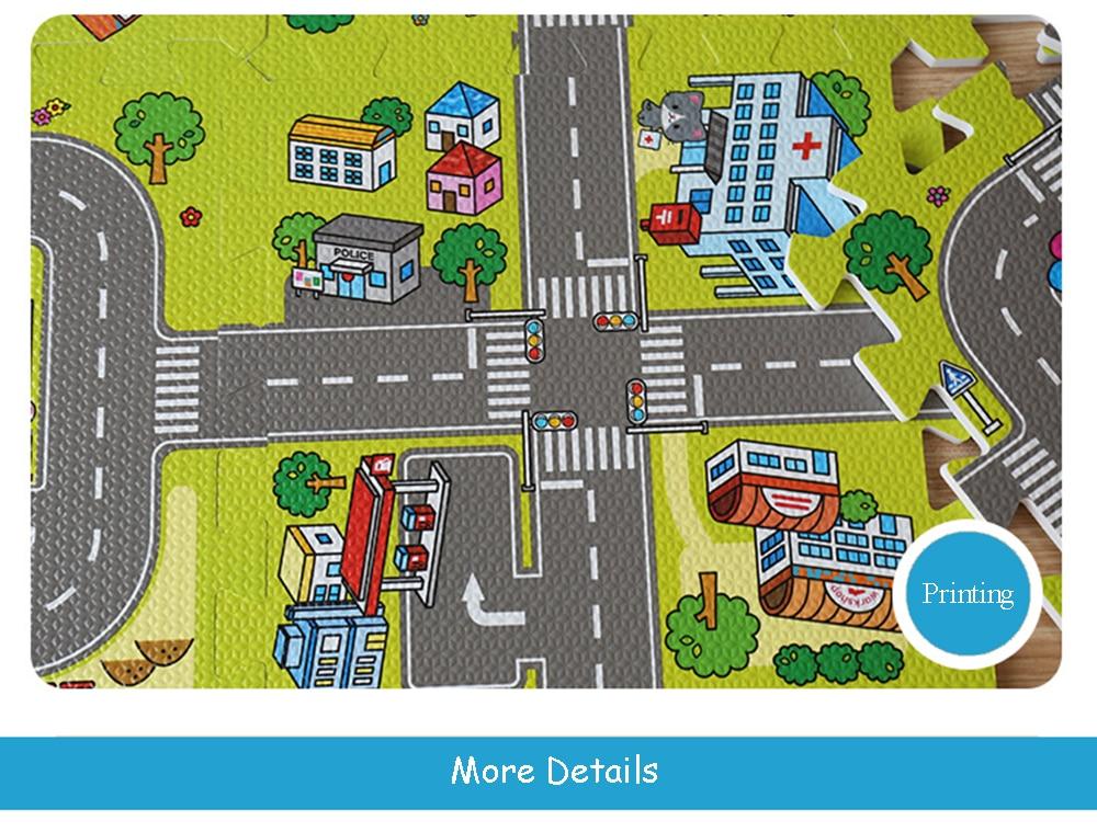 HTB1QLAydZnI8KJjSsziq6z8QpXac Baby EVA Foam Puzzle Play Floor Mat City Road Education Carpets Interlocking Tiles Kids Traffic Route Ground Pad (No Edge) NEEU