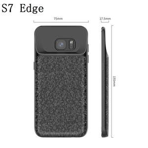Image 5 - S7 pil şarj cihazı samsung kılıfı Galaxy S7 Silm Silikon darbeye dayanıklı güç bankası samsung kılıfı S7 Kenar Şarj arka kapak