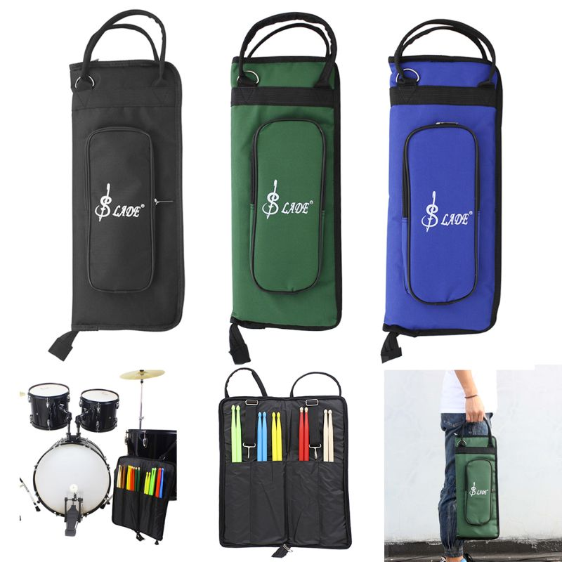 1 PC 3 Colors Professional Drumstick Bags Portable Thickening Waterproof Oxford Drumsticks Package   Simple Classic Bag