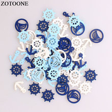 ZOTOONE Mix Anchor Wodden Buttons For Clothing Decor DIY Scrapbooking Needlework Craft Sewing Wood Accessories A