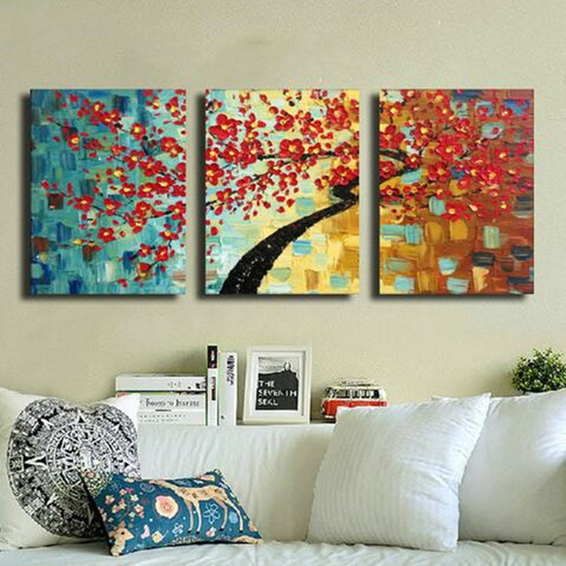 Colorful Abstract Flower Oil Painting On Canvas Handmade Acrylic