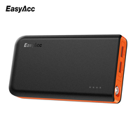 EasyAcc 13000mAh Power Bank With 2 USB Ports 18650 External Battery Charger With Led Flashlighting For